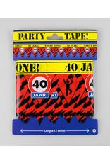 Afzetlint party zone 40 jaar