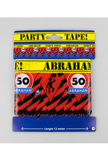 Afzetlint party zone 50 jaar Abraham