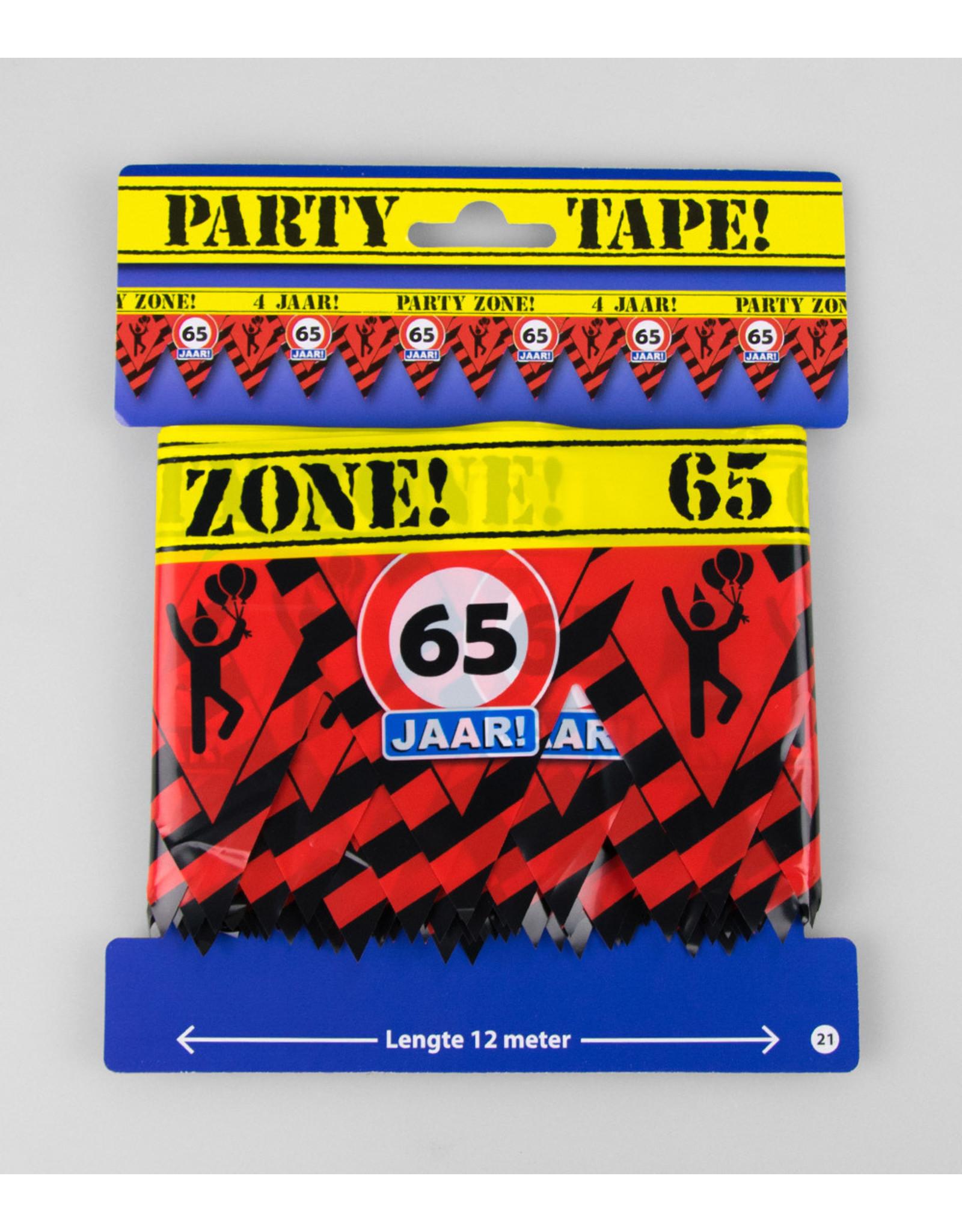 Afzetlint party zone 65 jaar