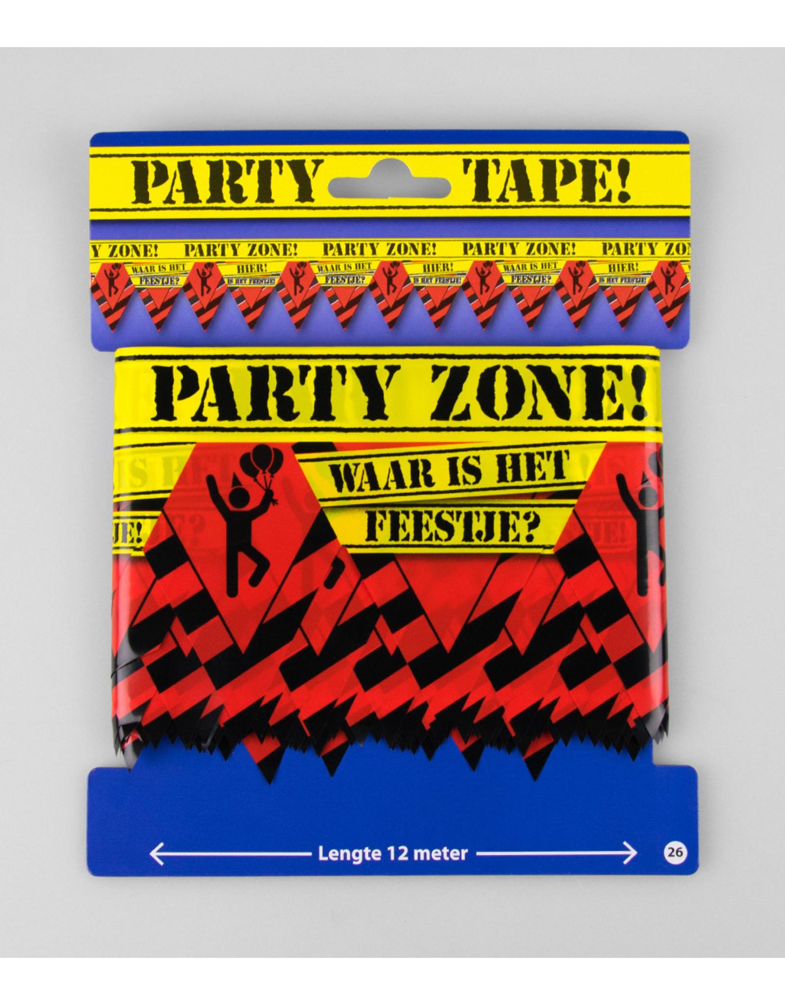 Afzetlint party zone waar is het feestje?