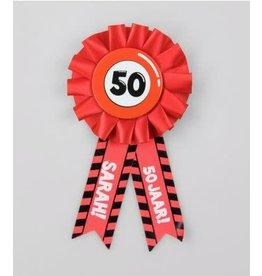 Party rozet 50 jaar Sarah