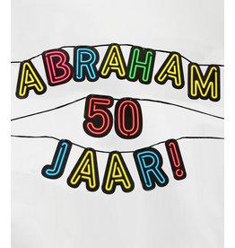 Neon slinger nr 7 Abraham 50 jaar