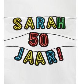Neon slinger nr 8 Sarah 50 jaar