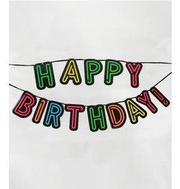 Neon slinger nr 9 Happy Birthday