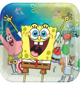 Amscan Spongebob borden 23 m 8 stuks