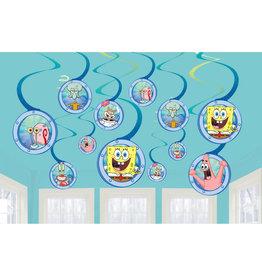 Amscan Spongebob hangdecoratie 12-delig