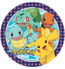 Amscan Pokemon borden 23 cm 8 stuks