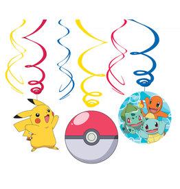 Amscan Pokemon hangdecoratie 6 stuks