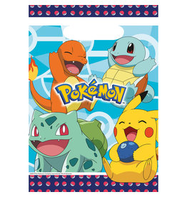 Amscan Pokemon uitdeelzakjes 8 stuks