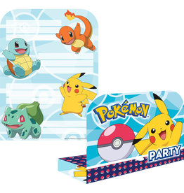 Amscan pokemon uitnodigingen 8 stuks