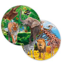 Kartonnen borden Safari 23cm