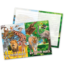 Safari uitnodigingen 8 stuks