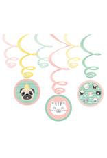 Amscan hello pets hangdecoratie 6-delig