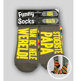 Funny socks nr 1 stoerste papa 1 paar