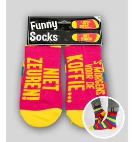 Funny socks nr 11 voor de koffie 1 paar