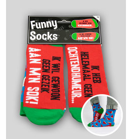 Funny socks nr 13 ochtendhumeur 1 paar