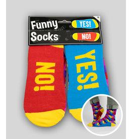 Funny socks nr 15 Yes/no 1 paar