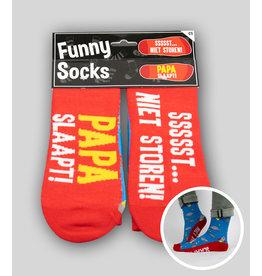 Funny socks nr 5 papa slaapt 1 paar
