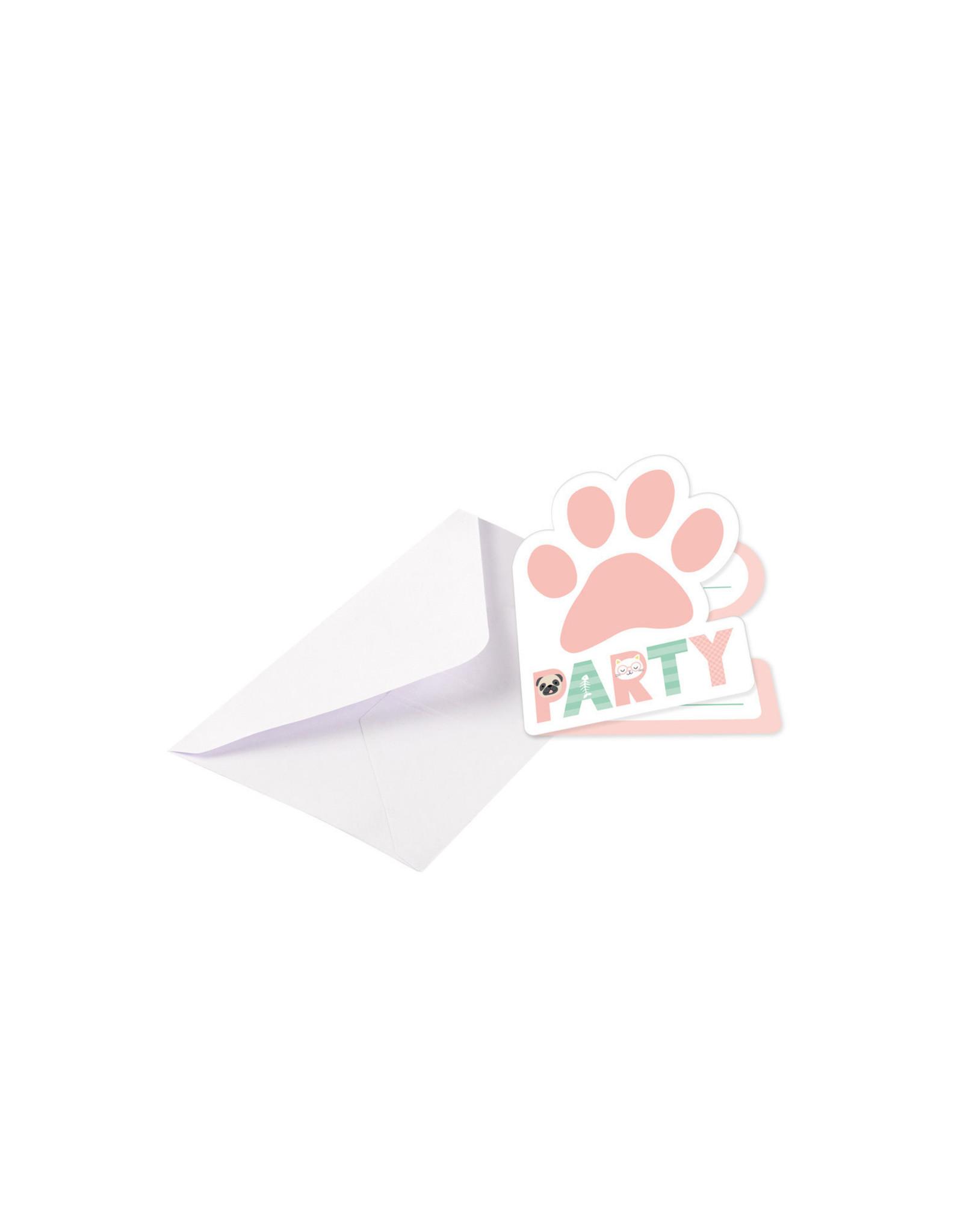 Amscan hello pets uitnodigingen 8 stuks