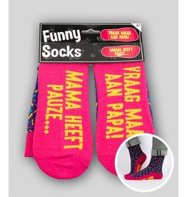Funny socks nr 7 mama heeft pauze