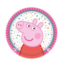 Amscan peppa pig borden 18 cm 8 stuks