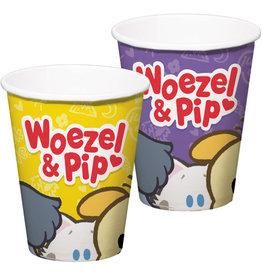 Woezel & Pip kartonnen bekers 8 stuks