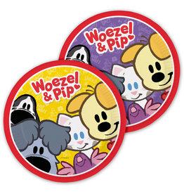 Woezel & Pip kartonnen borden 23 cm 8 stuks