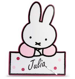 Nijntje schrijfbaar bord baby roze 60 cm