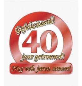 Huldeschild 40 jaar getrouwd