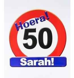 Huldeschild nr 7 Sarah 50 jaar