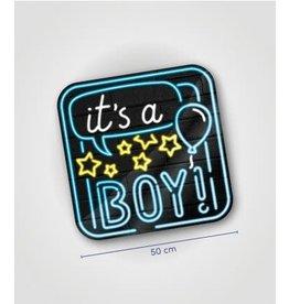 Neon huldeschild nr 19 Geboorte jongen