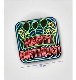 Neon huldeschild nr 13 Happy birthday