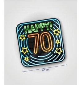 Neon huldeschild nr 12 70 jaar