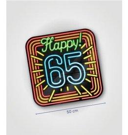 Neon huldeschild nr 11 65 jaar