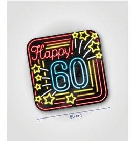 Neon huldeschild nr 10 60 jaar