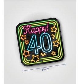 Neon huldeschild nr 6 40 jaar