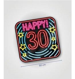 Neon huldeschild nr 5 30 jaar