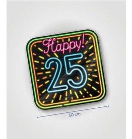Neon huldeschild nr 4 25 jaar