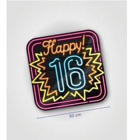 Neon huldeschild nr 1 16 jaar