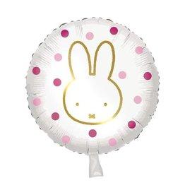 Nijntje folieballon roze/goud 46 cm