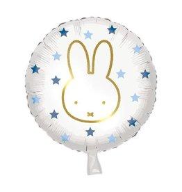 Nijntje folieballon blauw goud 46 cm
