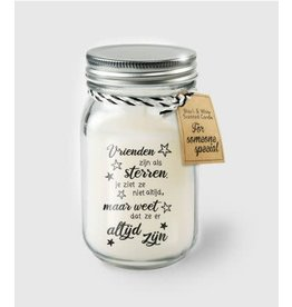 Black & white scented candle nr 7 vrienden