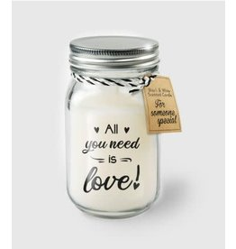 Black & white scented candle nr 33 all you need is love