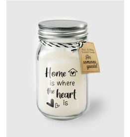 Black & white scented candle nr 23 home is where the heart is