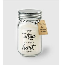 Black & white scented candle nr 16 altijd in mijn hart