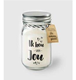 Black & white scented candle nr 15 ik hou van jou