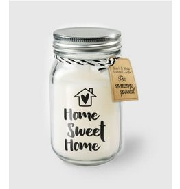 Black & white scented candle nr 20 home sweet home