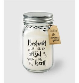 Black & white scented candle nr 13 bedankt