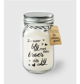 Black & white scented candle nr 5 broer