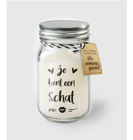 Black & white scented candle nr 10 je bent een schat
